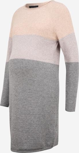 Only Maternity Knitted dress 'LILLO' in Graphite / Light grey / mottled white, Item view