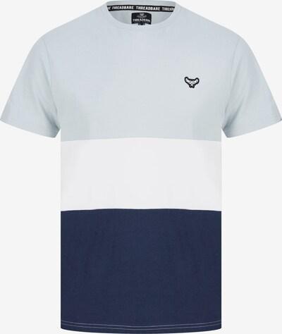 Threadbare Shirt 'Mace' in hellblau / dunkelblau / schwarz / weiß, Produktansicht