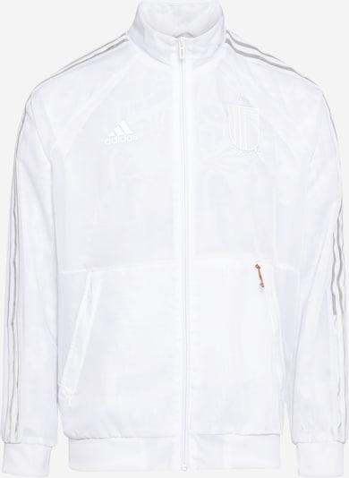 Sportinė striukė iš ADIDAS PERFORMANCE, spalva – pilka / balta, Prekių apžvalga