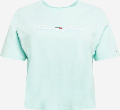Tommy Jeans Curve T-shirt en bleu marine / azur / rouge / blanc, Vue avec produit
