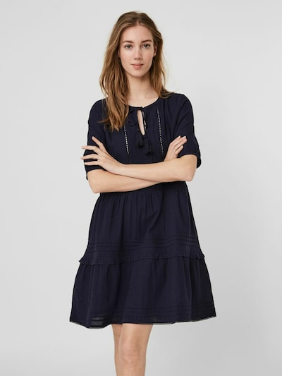 Rochie tip bluză 'Ibia' VERO MODA pe navy, Vizualizare model