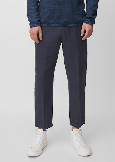 Marc O'Polo Chino 'NARVIK' in de kleur Navy, Modelweergave