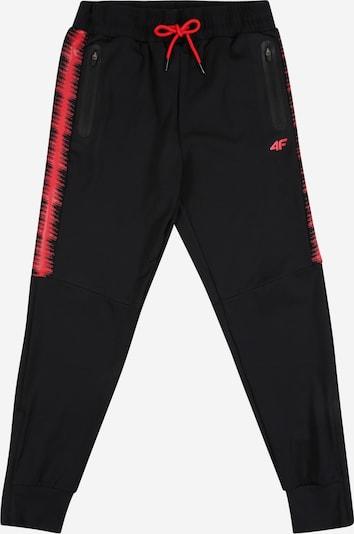 4F Spodnie sportowe w kolorze czerwony / czarnym, Podgląd produktu