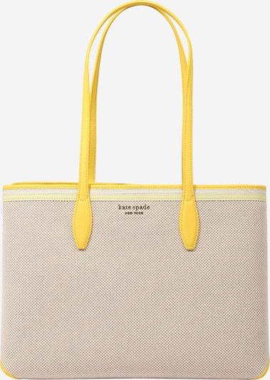 Pirkinių krepšys iš Kate Spade, spalva – smėlio spalva / geltona, Prekių apžvalga