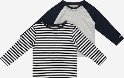 s.Oliver Shirt in dunkelblau / graumeliert / weiß, Produktansicht
