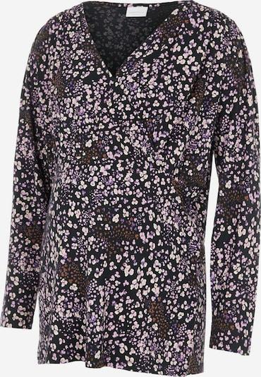 MAMALICIOUS Shirt in braun / lila / schwarz / weiß, Produktansicht