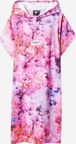PARI Pikk hommikumantel 'SWIM CLUB', värv roosa