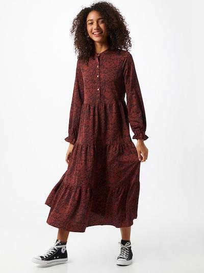LEVI'S Robe-chemise 'MARION' en bordeaux / noir, Vue avec modèle
