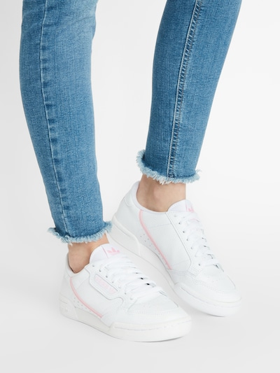 ADIDAS ORIGINALS Sneaker 'Continental 80' in rosa / weiß: Frontalansicht