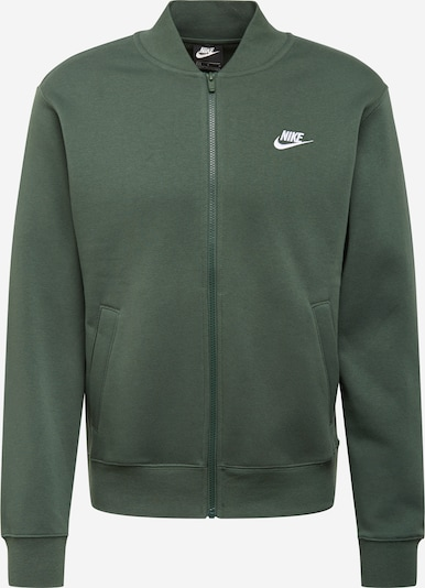Nike Sportswear Sweatjacke in smaragd / weiß, Produktansicht