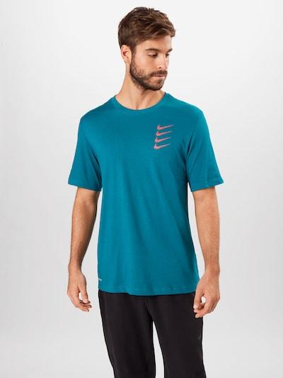NIKE Shirt in blau / orange: Frontalansicht