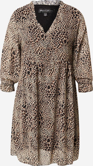 Mela London Dress in Light brown / Dark brown / Light grey / Black, Item view