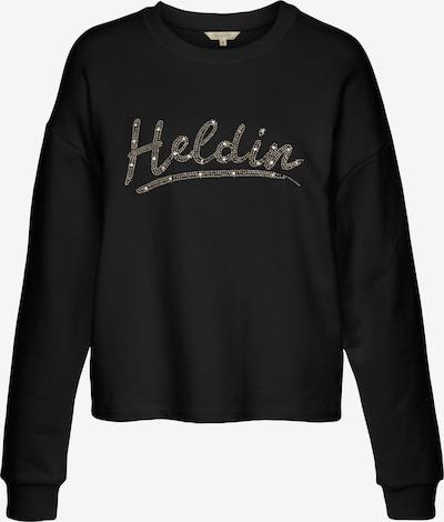 Herrlicher Sweat-shirt 'Glennie' en noir, Vue avec produit
