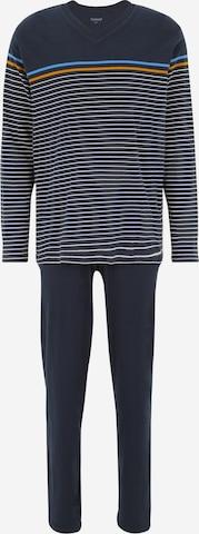 SCHIESSER Дълга пижама в синьо