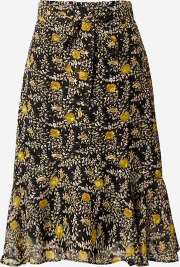 Y.A.S Jupe 'Vander' en jaune / noir, Vue avec produit