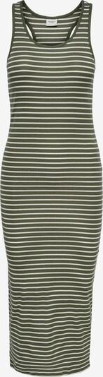 JDY Kleid 'Nevada' in khaki / weiß, Produktansicht