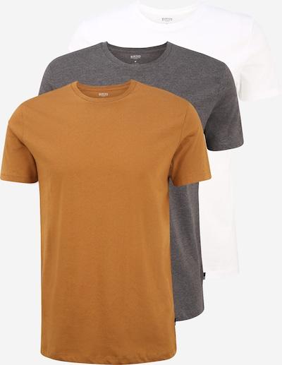BURTON MENSWEAR LONDON Camiseta térmica en cognac / gris / blanco, Vista del producto