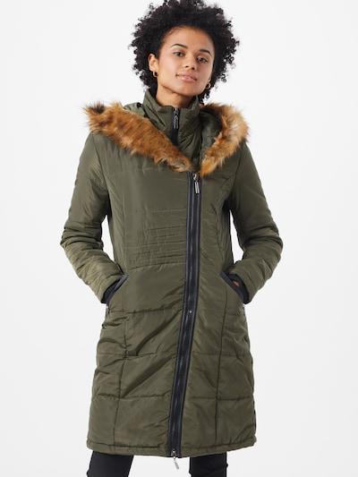 b.young Manteau d'hiver 'BYASI' en olive, Vue avec modèle