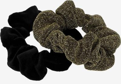 Six Scrunchie-Set in grünmeliert / schwarz, Produktansicht