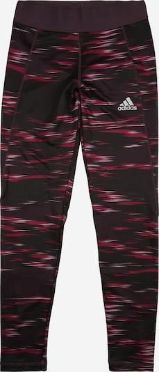 ADIDAS PERFORMANCE Sporthose in aubergine / pink / purpur, Produktansicht