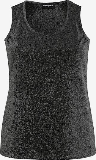 seeyou Top 'mit Rundhalsausschnitt' in schwarz, Produktansicht