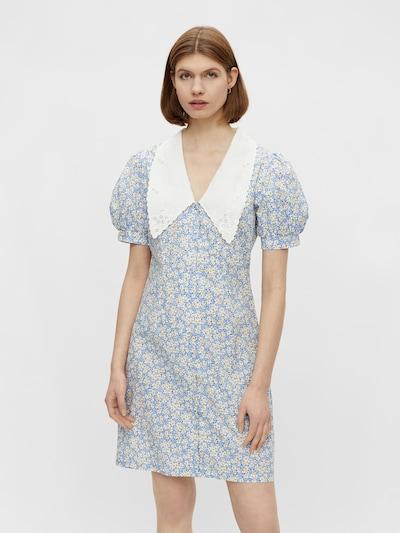 Rochie tip bluză PIECES pe albastru / albastru fumuriu / galben / alb, Vizualizare model