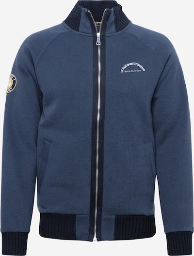 Derbe Sweatjacke 'ComFi' in marine / nachtblau / weiß, Produktansicht