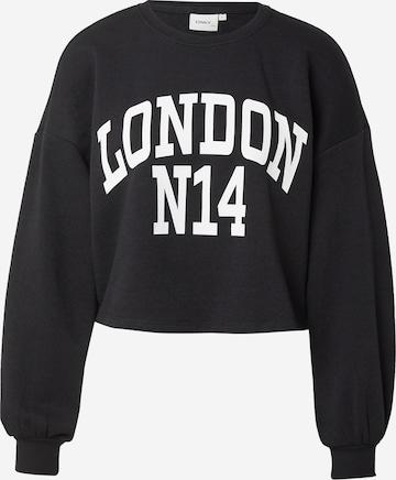 ONLY Sweatshirt 'SPENCER' i svart