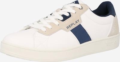 REPLAY Sneaker 'GROUND' in beige / navy / weiß, Produktansicht