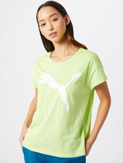 PUMA T-Shirt 'ELEVATED' in hellgrün / weiß: Frontalansicht