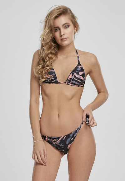 Urban Classics Bikini en azul noche / lila / melocotón, Vista del modelo