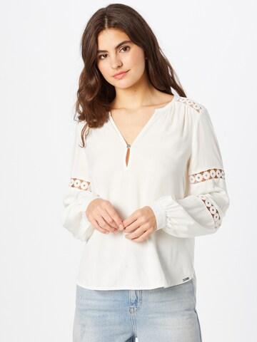 Camicia da donna di Q/S by s.Oliver in bianco