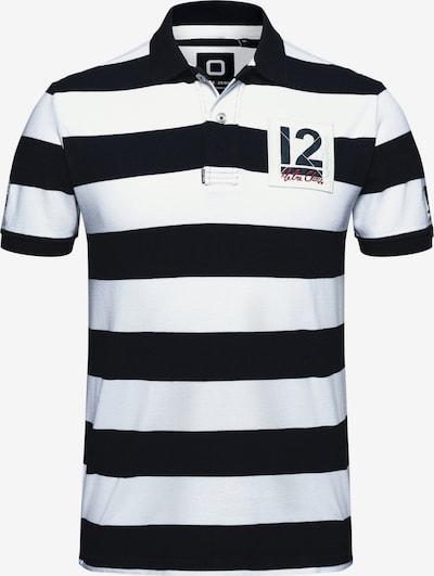 CODE-ZERO Poloshirt '12M Striped Polo' in blau / mischfarben / weiß, Produktansicht