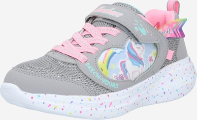 SKECHERS Baskets 'MISS CRAFTY' en gris / mélange de couleurs / rose, Vue avec produit