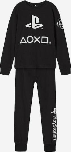 NAME IT Schlafanzug in schwarz / weiß, Produktansicht