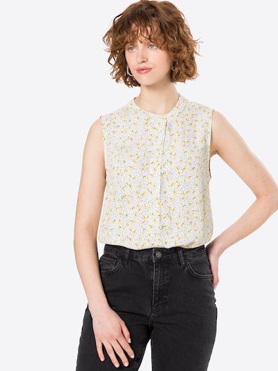 minimum Bluse 'Liljane' in taubenblau / gelb / schwarz / weiß, Modelansicht