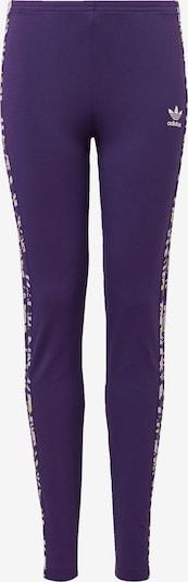ADIDAS ORIGINALS Leggings in de kleur Geel / Donkerlila / Wit: Vooraanzicht