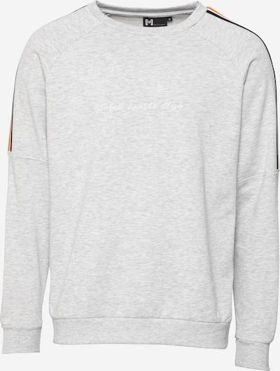 Bluză de molton 'Samuel' Hailys Men pe gri deschis / portocaliu / negru / alb, Vizualizare produs