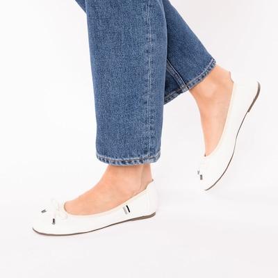 ambellis Schuh in dunkelblau / weiß: Frontalansicht