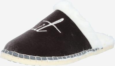espadrij l´originale Hausschuh in schwarz / silber / weiß, Produktansicht