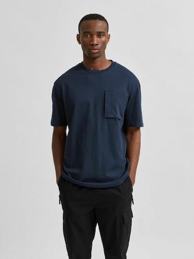 SELECTED HOMME Shirt in de kleur Nachtblauw: Vooraanzicht