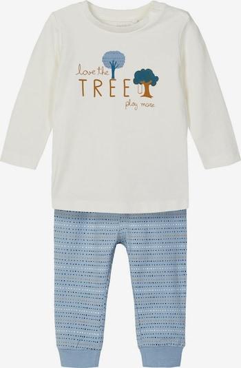 NAME IT Set T-Shirt + Hose in rauchblau / weiß, Produktansicht
