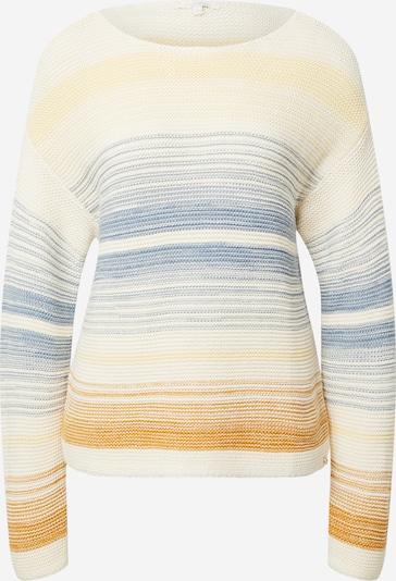 TOM TAILOR DENIM Pullover in beige / navy / braun / gelb, Produktansicht