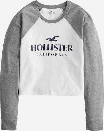 HOLLISTER Тениска в сив меланж / бяло, Преглед на продукта