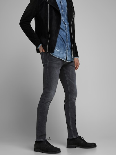 JACK & JONES Jeans 'Glenn' in black denim, Modelansicht