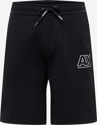 Pantaloni ARMANI EXCHANGE pe negru / alb, Vizualizare produs