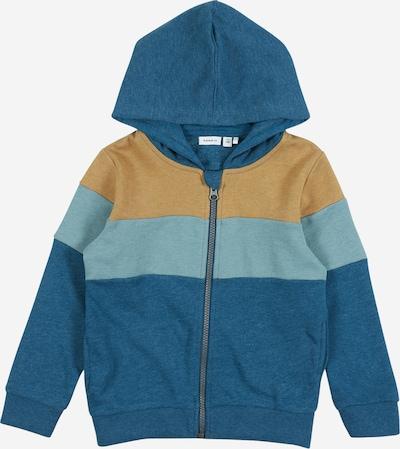 NAME IT Bluza rozpinana w kolorze ciemny niebieski / brązowym: Widok z przodu