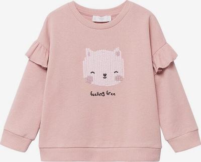 MANGO KIDS Sweatshirt 'Tania' in de kleur Oudroze / Lichtroze / Zwart, Productweergave