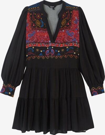 Rochie tip bluză 'SOLSONA' Desigual pe azuriu / galben deschis / portocaliu deschis / roșu / negru, Vizualizare produs