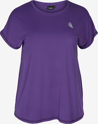 Active by Zizzi T-Shirt 'ABASIC' in lila, Produktansicht